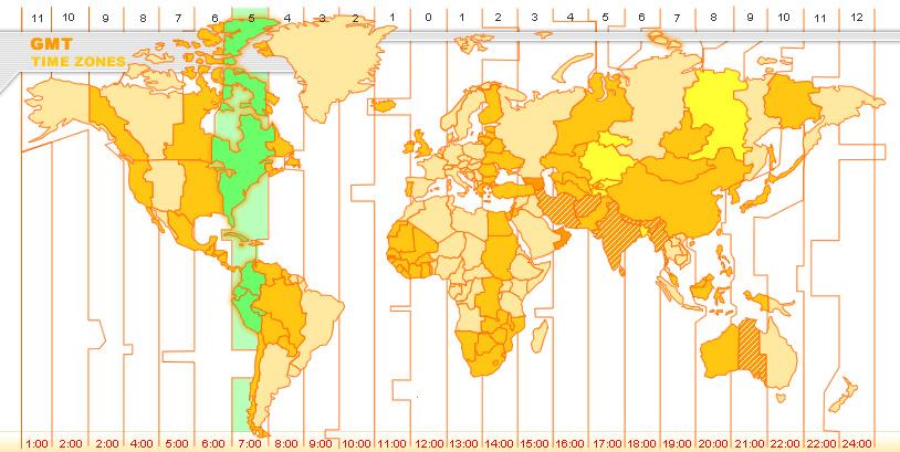Karta Usa Tidszoner.Gmt Greenwich Mean Solar Time Washington Dc Usa Usa Tidszon